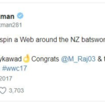 vvs laxman's tweet to congratulate Women Indian Cricket Team