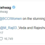 Virender Sehwag's tweet  Women Indian Cricket Team