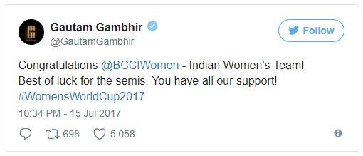 IPL Chairman Rajiv Shukla congratulated the Indian women cricket team