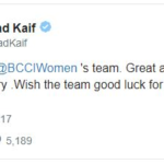 Mohammad kaif congratulated Indian Women Cricket Team
