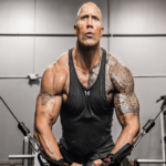 dwayne johnson fitness athlete gym workout