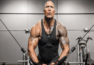The Rock-dwayne johnson fitness athlete gym workout