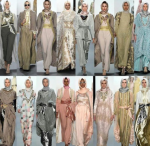 New york fashion week catwalk in hijab