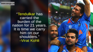 sachin on virat's shoulder
