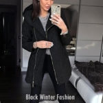 black winter fashion : aocgu /best winter outfits